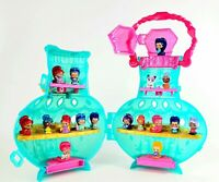 Shimmer And Shine Teenie Genies Bottle Case Plus Large Lot Figures nickelodeon