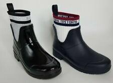 Tretorn Women Lia High Top Rubber Rain Boot Built in Sock Waterproof Black Navy