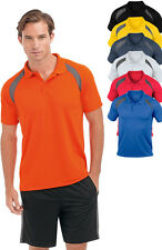 Hanes 7740 Cool-DRI Plain Contrast Polyester Breathable Sports Polo Shirt S-3XL