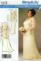 2005 Wedding Bridal Gown Dress Size 26W-32W Pattern Simplicity 4478 OOP
