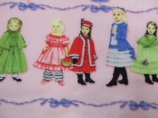 """Fleece Fabric Pink Doll Girls Clothes Pattern Sewing Fabric 3 Yards x 60"""""""