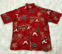 Reyn Spooner M Shirt MLB Diamond Back Button Down Mens Hawaiian Top Arizona