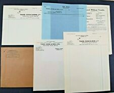 1940s Thomas Cook & Son Travel Agents Ephemera Letter Headed paper etc - Holiday
