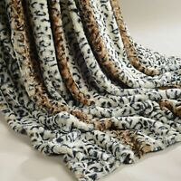 Rabbit Faux Fur Sofa Bed Luxury Throw Over Warm Blanket 150 x 200 cm Leopard