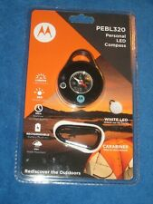 Motorola PEBL320 Personal LED Light w/Outdoor Solutions & Sensors Compass,New!