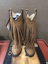 Old West Brown Fringe Toddler Boot Size 9