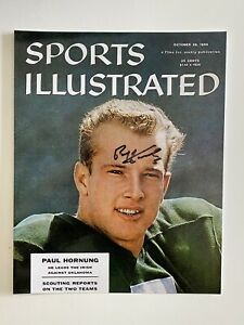 Paul Hornug signed 8x10 photo Packers Notre Dame