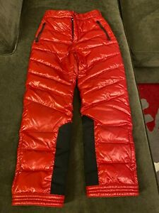 Authentic MONCLER Ski Down Pants! Girls Red