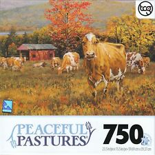 Peaceful Pastures Autumn's Gold 750 Piece Puzzle - Bonnie Mohr