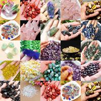 Natural Crystal Quartz Mixed Gravel Gems Stone Rock Fish Tank Decor Minerals