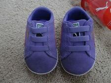Girls Trainers Suede Hook & Loop Fasteners Baby Shoes