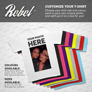 Custom Printed T Shirt Personalised T Shirts Customized T Shirt Stag Hen Photo