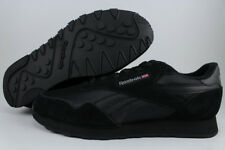 Reebok Royal Nylon Triple Black Mono Carbon Gray Running Suede Classic Men Sizes 8