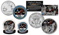 APOLLO 11 Space 50th Anniv. Man on Moon 2-Coin Set Florida Qtr & JFK Half Dollar