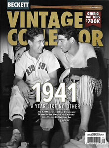 Beckett Vintage Collector June/July 2021 Ted Williams Joe Dimaggio