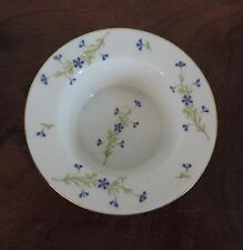 Antique M. Redon Limoges Paris Porcelain Ramekin Bowl Sprig Cornflower France