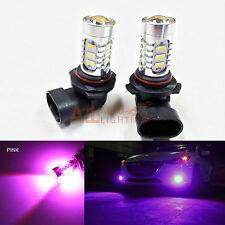 2x Pink 9006 15w High Power Bright LED Bulbs 5730 15-SMD Fog light/Driving Light