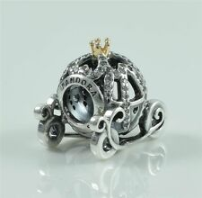 Genuine Pandora Silver 14K Gold Disney Cinderella Carriage Charm Bead 791573CZ