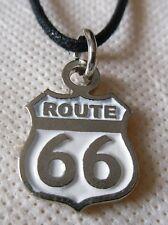 ROUTE 66   pendentif métal avec cordon réglable