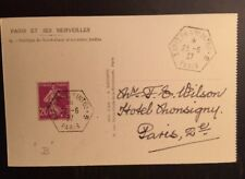 Nice French 1937 Philatelic Exposition Postcard
