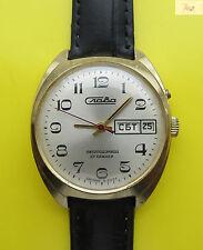 USSR vintage SLAVA 27 jewels  mechanical Watch AU 1
