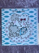 """Fifi and Fido Greetings Card - """"Le Bebe"""" - New Baby Boy - FREE UK 1st p/p"""