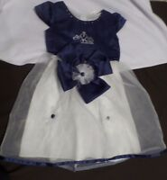 Girl's Navy Blue & white Dress by Vogue Fashions, Size 5, NWT