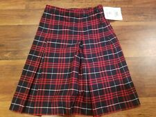Becky Thatcher Skirt Uniform Blue & Red Plaid Style 3953 Girls Size 2 Teen Nwt