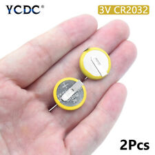 2Pcs Battery CR2032 3V 2 Tabs Coin Cell For Main Board Toy Electronic Scale