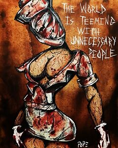 Silent Hill Nurse Horror Painting Art Limited Edition Signed Print