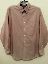 Croft & Barrow Mens Shirt Size 18 34/35 Cranberry Wrinkle Resistant Oxford