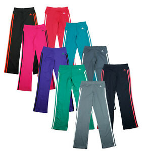 Adidas Youth Girls Striped Athletic Yoga Pants Pant, Color Options