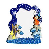 Disney Mickey Mouse Sorcerers Apprentice Fantasia 3x5 3D Picture Frame RARE VTG