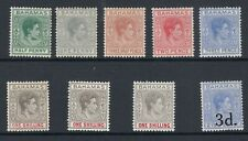 BAHAMAS: 1938-52 KGVI definitives, array of better SG shades to 1/- £128 MLH (9)