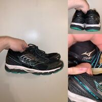 Mizuno Wave Paradox 3 Womens Size 10.5 Running Shoes Black Comfort Breathable