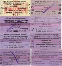 8 Edmondsons Sri Lanka Government Railway tickets Ceylon Colombo Fort 2013