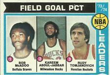 1974-75 TOPPS BASKETBALL #146 FIELD GOAL PCT. LEADERS (ABDUL-JABBAR) - VG+/EX-