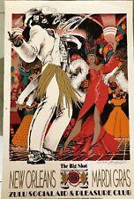The Big Shot ZULU 1996 New Orleans Mardi Gras Signed By Benford Davis, Jr.