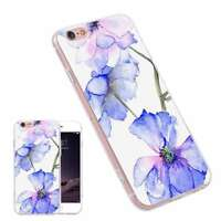 Blossom Printing Pattern Fashion TPU Phone Case Cover for iPhone Samsung Huawei