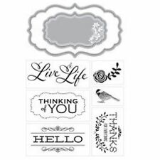 MOMENTA ART C cutting dies & clear cling stamps LIVE LIFE for card making