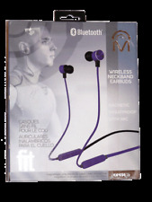 Fit Magnetic Wireless Bluetooth Neckband Earbuds Sweatproof With Mic NEW in Box