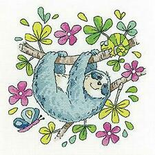 Heritage Crafts Counted Cross Stitch Kit -Karen Carter Collection - Sloth  - 14