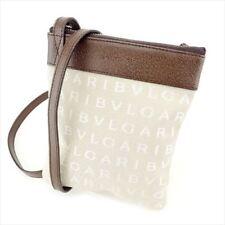 Bvlgari Shoulder bag Logo Mania Beige Brown Woman unisex Authentic Used T6783