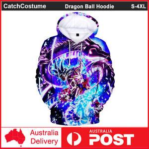 Dragon Ball Z Saiyan Goku Hoodie Jumper Anime Sweatshirt Pullover Jacket Coat