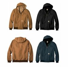 New Carhartt Mens Thermal Lined Duck Active Jacket Coat Winter J131