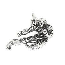 Nouveau Argent Sterling 0.925 Karate Figure Art Martial Charme Collier Pendentif