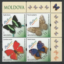 Moldova 2013  Butterflies Minisheet 4 MNH stamps