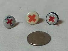 Vintage Red Cross Pinback Button Pin 1921,1919 and undated.
