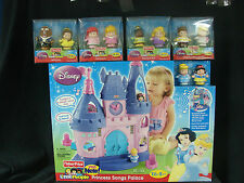 Fisher Price Little People Disney Princess Song Palace Castle 10 Figures LOT
