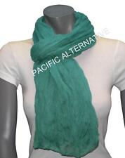 Foulard Bleu Turquoise grand gros 110x170 femme mixte chale echarpe NEUF scarf